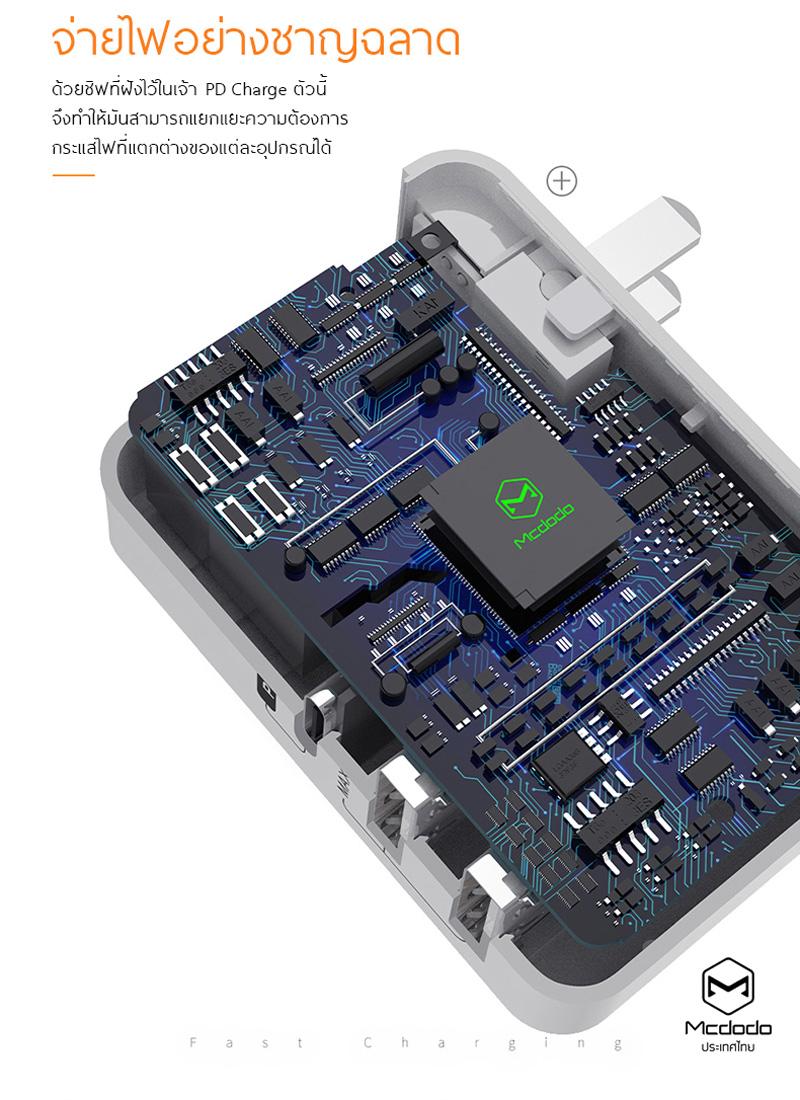 อแดปเตอร์ ชาร์จด่วน ไอโฟน mcdodo pd dilivery adaptor